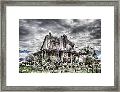 The Old Wood House Rogue Valley Oregon Framed Print