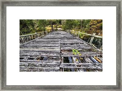 The Old Wooden Bridge Framed Print by JC Findley
