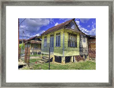 The Old Yellow House Framed Print by Nadia Sanowar