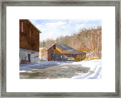 The Old Yellow Truck Framed Print by Jeff Mathison