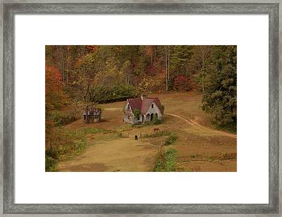 Framed Print featuring the digital art The Oldest House In North Carolina by Sharon Batdorf
