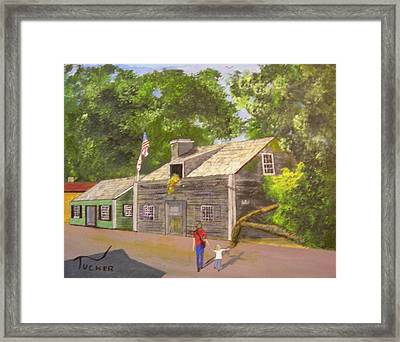 The Oldest Wooden School House Framed Print by David Earl Tucker