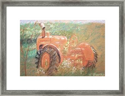 The Ol'e Allis Chalmers Framed Print by Ron Bowles