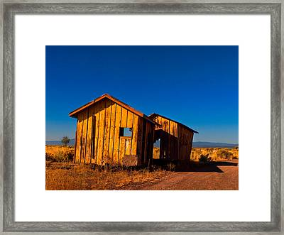 The Ole Yeller Shed Framed Print by Laura Ragland