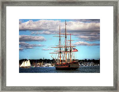 Tall Ship The Oliver Hazard Perry Framed Print by Tom Prendergast