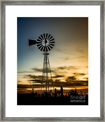 The Old Windmill Framed Print by Robert Bales