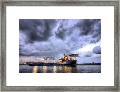 The Olympic Boa Framed Print by JC Findley