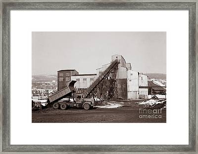 The Olyphant Pennsylvania Coal Breaker 1971 Framed Print