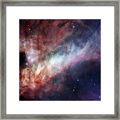 Framed Print featuring the photograph The Omega Nebula by Eso