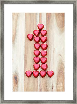 The One Of Hearts Framed Print by Anne Gilbert