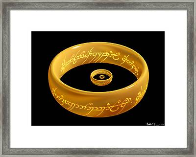 The One Ring Droste Framed Print
