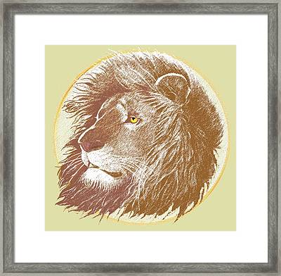 Framed Print featuring the mixed media The One True King by J L Meadows