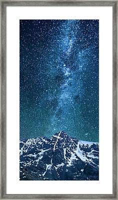 Framed Print featuring the photograph The One Who Holds The Stars by Aaron Spong