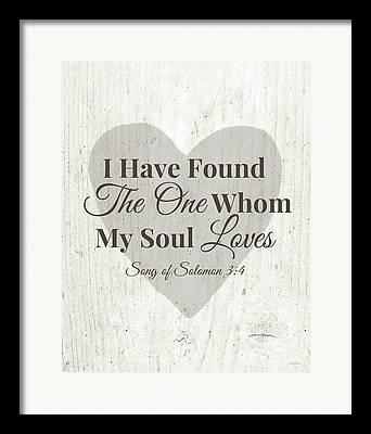 Heart Song Framed Prints