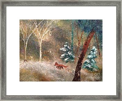 Framed Print featuring the painting The Onion Snow by Denise Tomasura