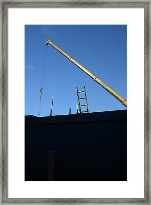The Only Way Is Up Framed Print by Jez C Self