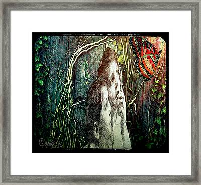 Framed Print featuring the digital art The Only Word... by Delight Worthyn