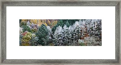 The Onset Of Winter Framed Print