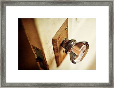The Open Door Framed Print by Rebecca Sherman