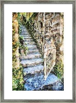 The Open Gate Framed Print by Shirley Stalter