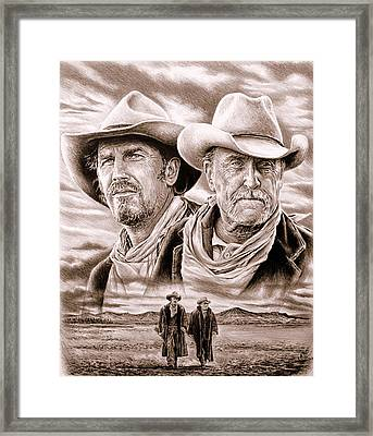 The Open Range Sepia  Framed Print
