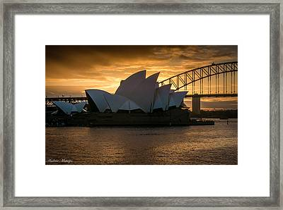 The Opera House Framed Print by Andrew Matwijec