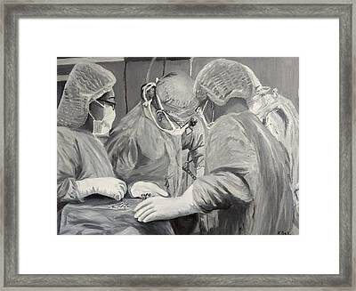 The Operation Framed Print