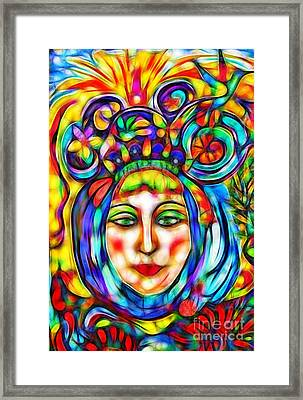 The Oracle Framed Print by Anna Sheradon