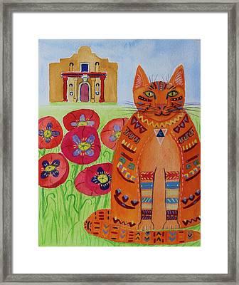 the Orange Alamo Cat Framed Print