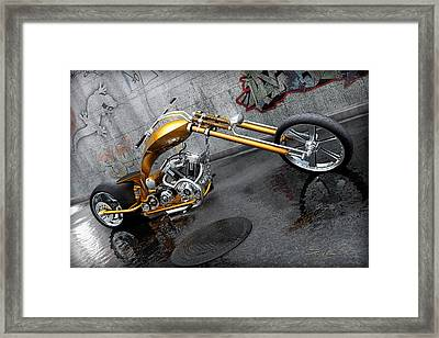 The Orange City Chopper Framed Print by David Collins