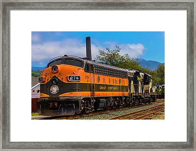 The Orange Great Northern Railway Framed Print