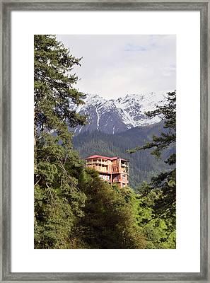 The Orange House Framed Print by Sumit Mehndiratta