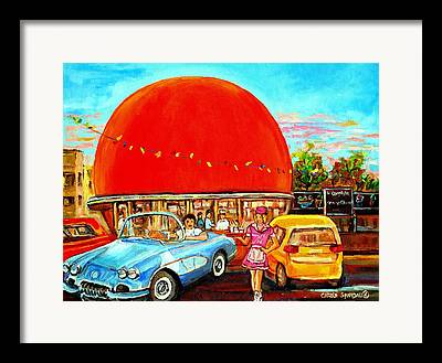 American Heritage Party Paintings Framed Prints