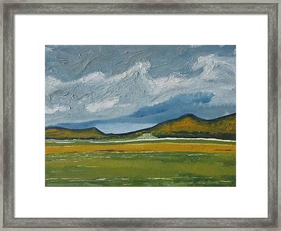 The Orange Mountains Framed Print