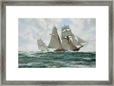 The Orange Schooner Framed Print