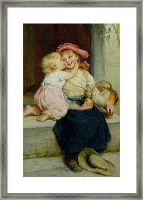 The Orange Seller Framed Print by  Frederick Morgan
