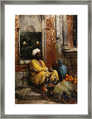 The Orange Seller Framed Print