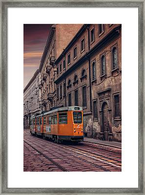 The Orange Tram Framed Print