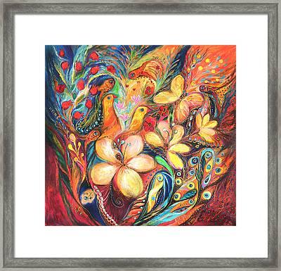 The Orange Wind Framed Print by Elena Kotliarker