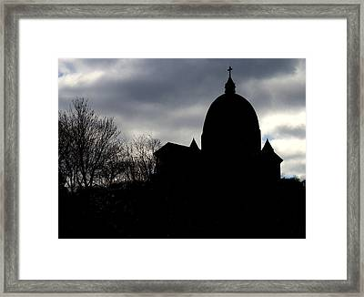 The Oratory - Silhouette Framed Print