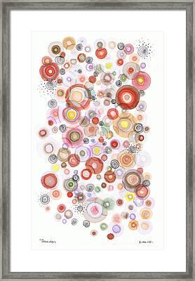 The Orbits Of Joy Framed Print by Regina Valluzzi