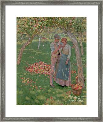 The Orchard Framed Print by Nelly Erichsen