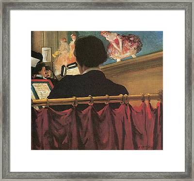 The Orchestra Pit Framed Print by Everett Shinn