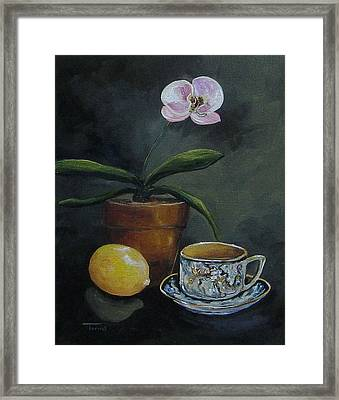 The Orchid And The Dragon  Framed Print by Torrie Smiley