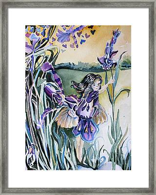 Framed Print featuring the painting The Orchid Fairy by Mindy Newman