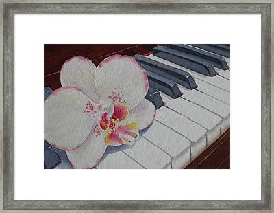 The Orchids Song Framed Print by Judy Mercer