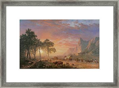 The Oregon Trail Framed Print