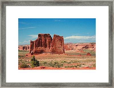 The Organ Arches National Park Framed Print