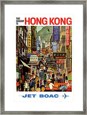 The Orient Is Hong Kong - B O A C  C. 1965 Framed Print by Daniel Hagerman