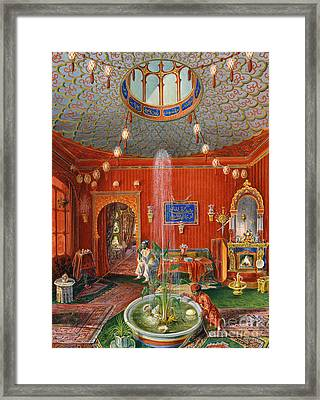 The Oriental Room In Villa Lazarovich, Trieste Residence Of Maximilian Of Habsburg Framed Print